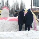 В Шостці стартував конкурс снігових скульптур