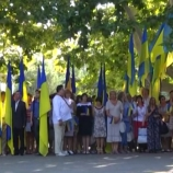 На головному флаг-штоці міста замайорів національний двоколор